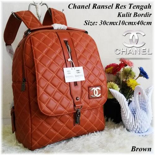 Jual Tas Ransel Tas Wanita Tas KW Tas Branded Backpack Chanel Ransel ... 1cce7a9d91