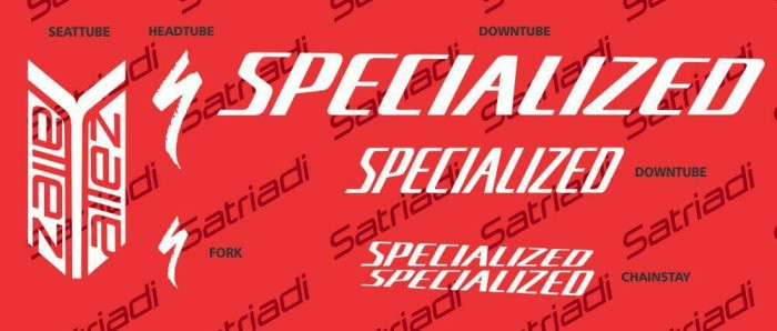 harga Stiker frame sticker decal sepeda specialized allez roadbike custom Tokopedia.com