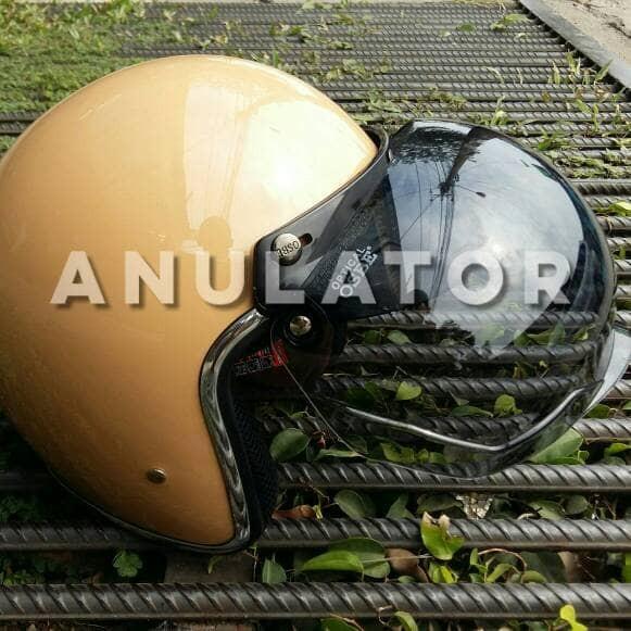 Kaca bubble buble visor mika helm osbe spt bogo cakil caferacer retro