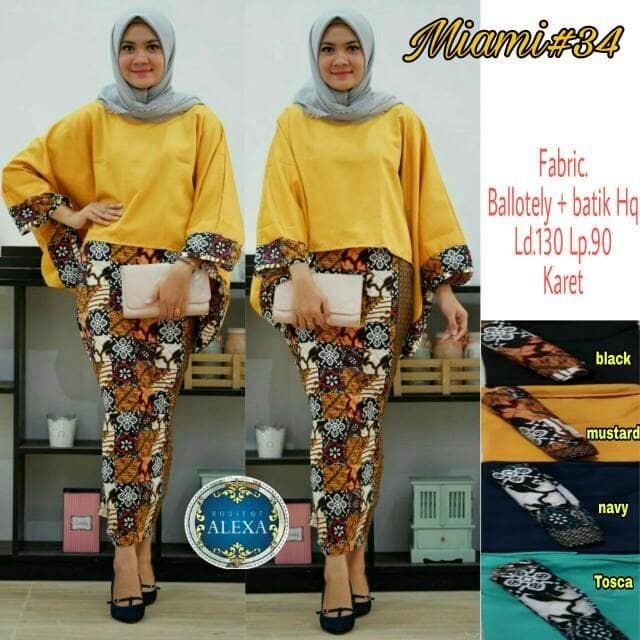 Baju Setelan Wanita Batik Modern Miami #34
