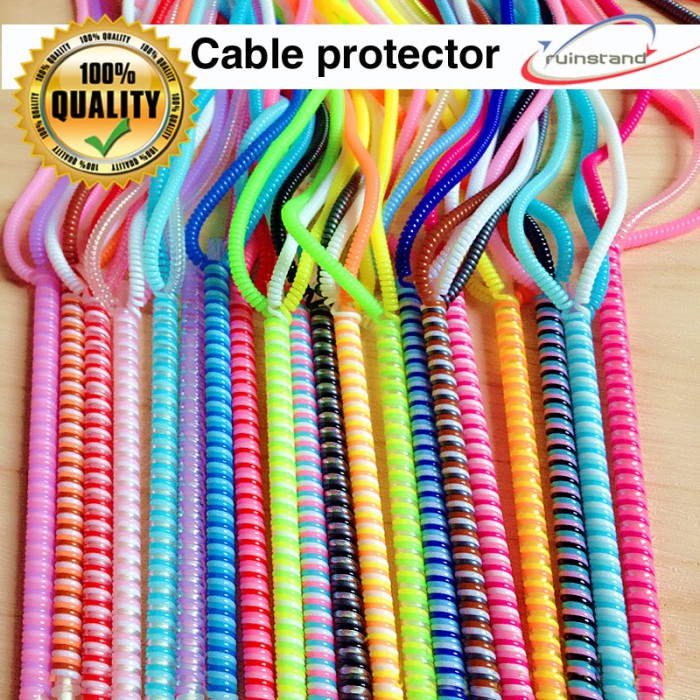 Pelindung Kabel Spiral 2 Warna Duo Tone - Cable Protector Good Quality