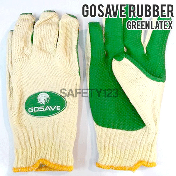 harga Gosave rubber latex gloves sarung tangan kerja karet - green hijau Tokopedia.com