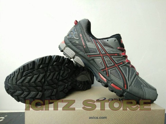 harga [original] sepatu trail running asics gel-kahana 8 shark/black/red Tokopedia.com