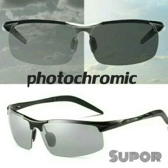 Jual Kacamata Polaroid Photochromic Sport Sunglasses Otomatis hitam ... a0186e7fa6