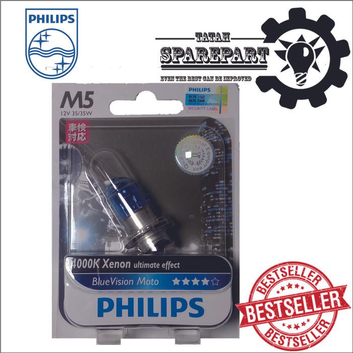 harga Bohlam lampu motor philips bluevision m5 35/35w original termurah Tokopedia.com