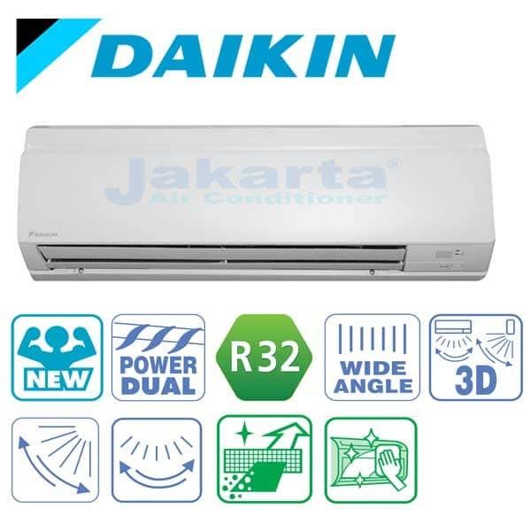 Jual AC DAIKIN DELUXE THAILAND R32 FTM 25 JV 1 PK