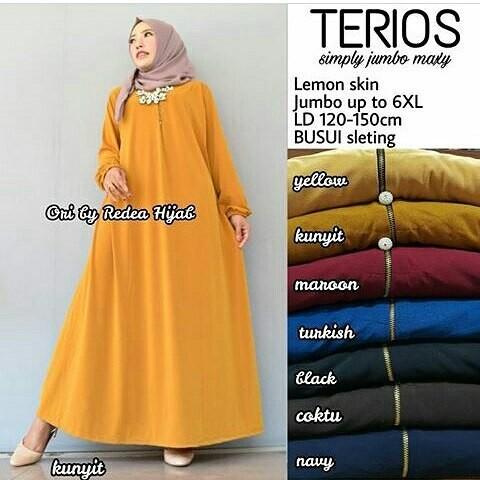 harga Maxi dress jumbo busui polos jersey gamis muslim big size xxxxl murah .