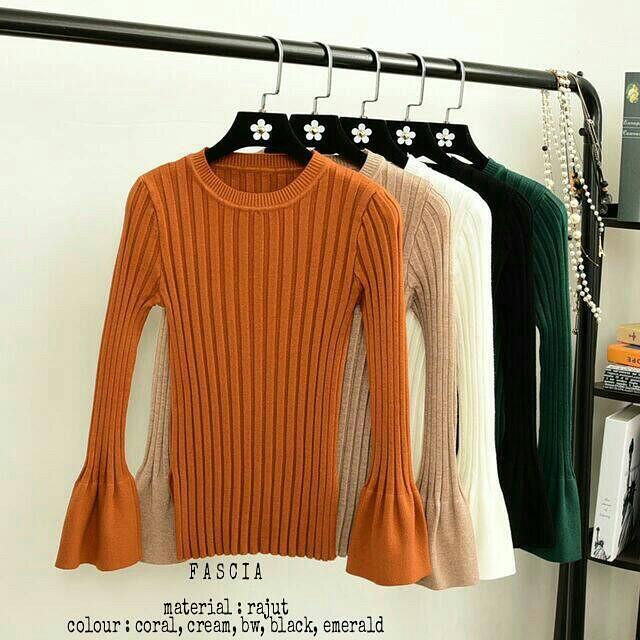 Grosir Baju Atasan Rajut Muslim Wanita Murah Terbaru / Fascia Knit