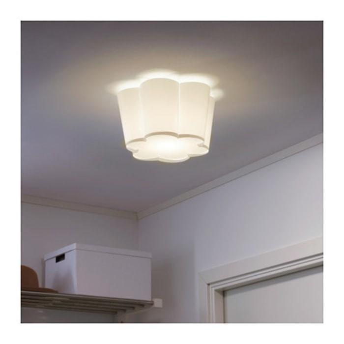 IKEA LYSBOJ Lampu plafon, Putih