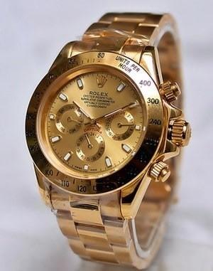 Jam tangan pria rolex daytona combi white