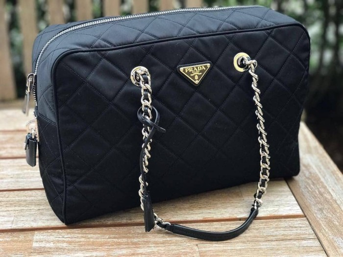 Jual Tas Prada Original-Prada Impuntu Medium Black  2ca37e0c65