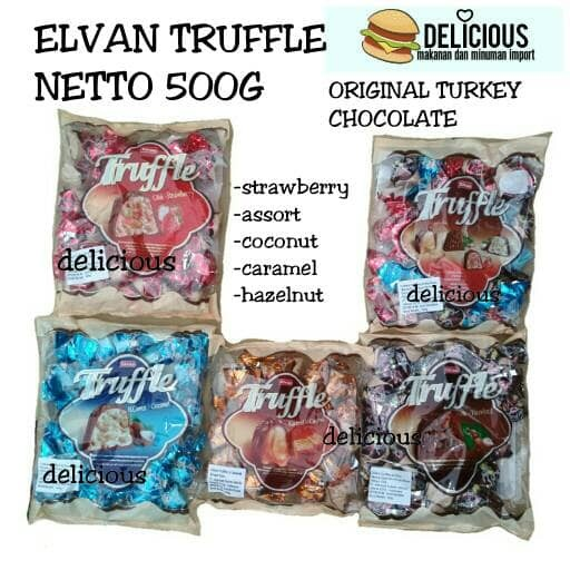 ELVAN TRUFFLE 500G CHOCOLATE COKLAT TURKI