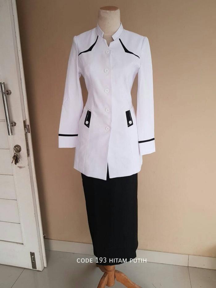 Jual Baju Atasan Blazer Seragam Putih PNS WANITA Kerja
