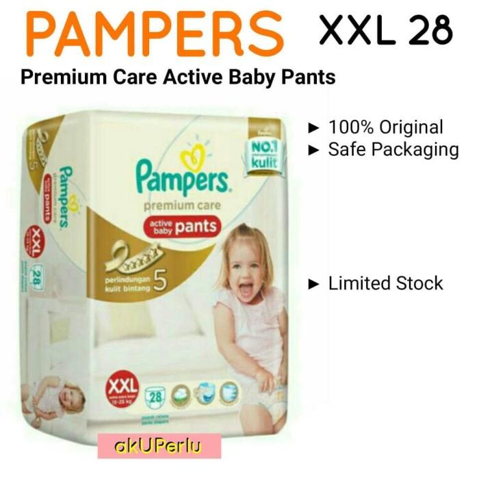 harga Akuperlu pampers xxl28 premium care active baby pants xxl28 xxl 28 Tokopedia.com
