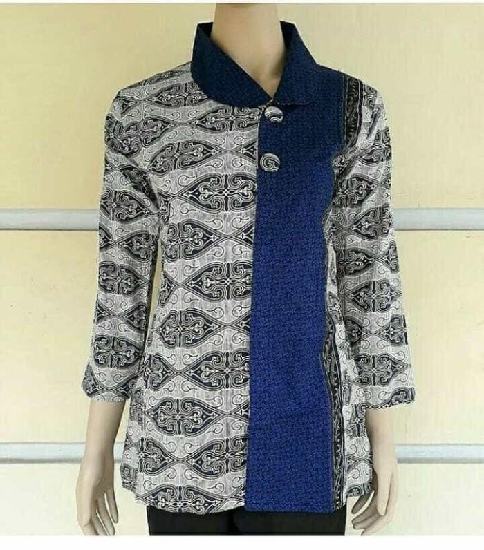 harga Blus batik/ blouse batik/ baju blouse/ seragam batik/ batik kantor Tokopedia.com