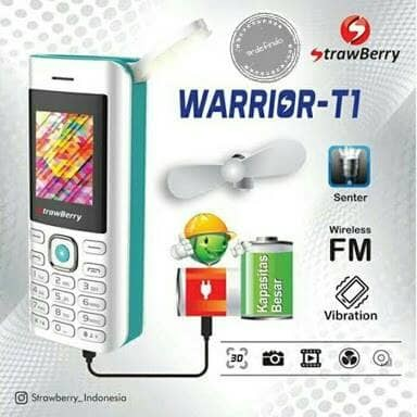 harga Strawberry warrior t1 hp unik bs kipas angin lampu mancing Tokopedia.com