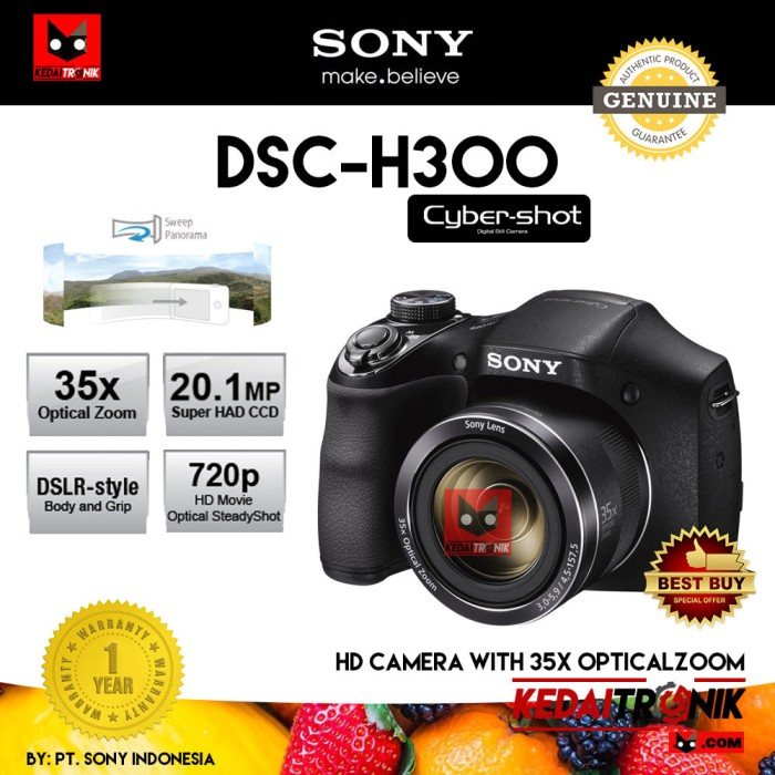 Camera sony cybershot dsc-h300 dslr kamera pocket hd 35x ori
