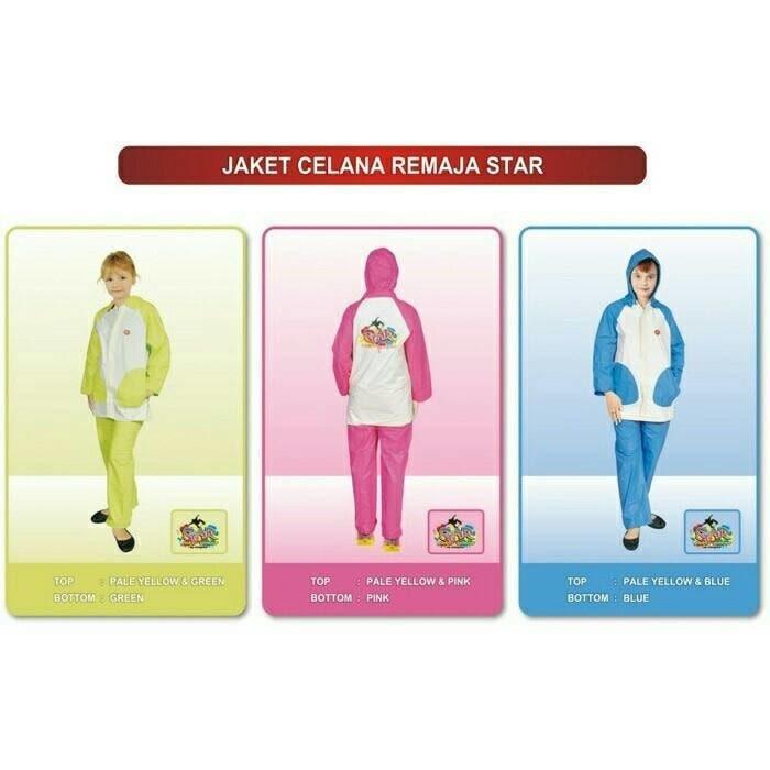 Jas Hujan Mantel Anak Dan Remaja Lucu Stelan / Setelan STAR Indoplast