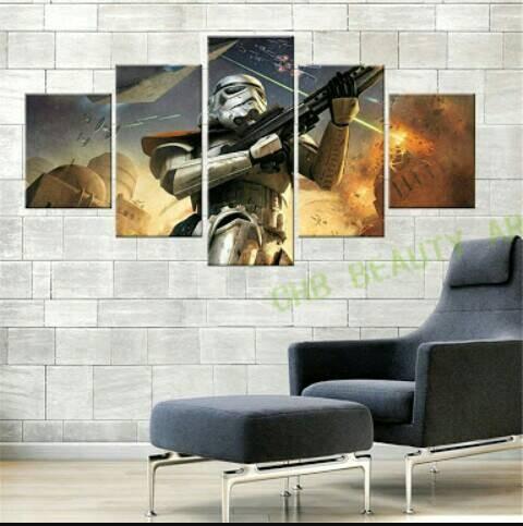 harga Poster star wars troopers 5 panel Tokopedia.com