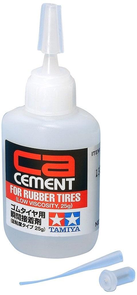 harga Tamiya rubber tire glue (cement) low viscosity 25g Tokopedia.com