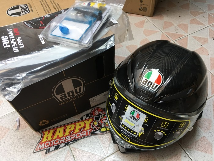 Helm AGV GP Pista GPR Carbon Glossy Eurofit size M L XL made in Italy 3
