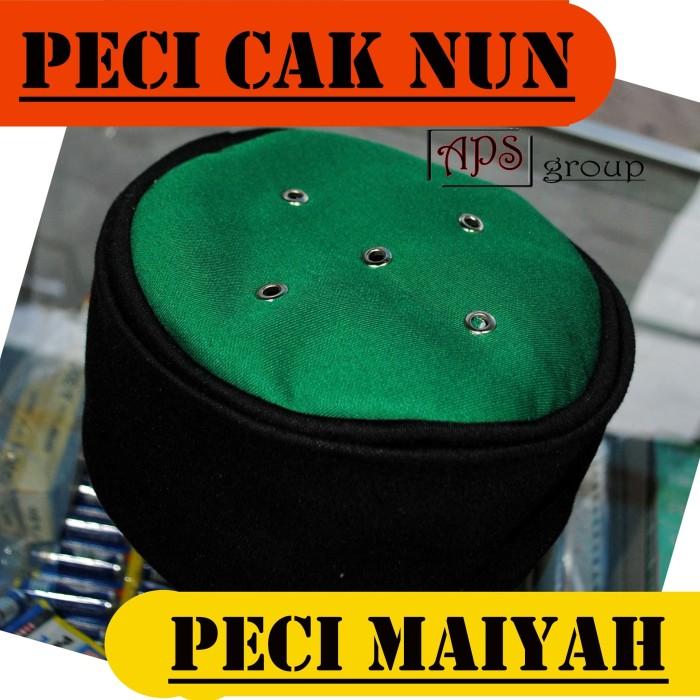 harga Peci maiyah cak nun hitam kombinasi hijau original bahan lembut Tokopedia.com