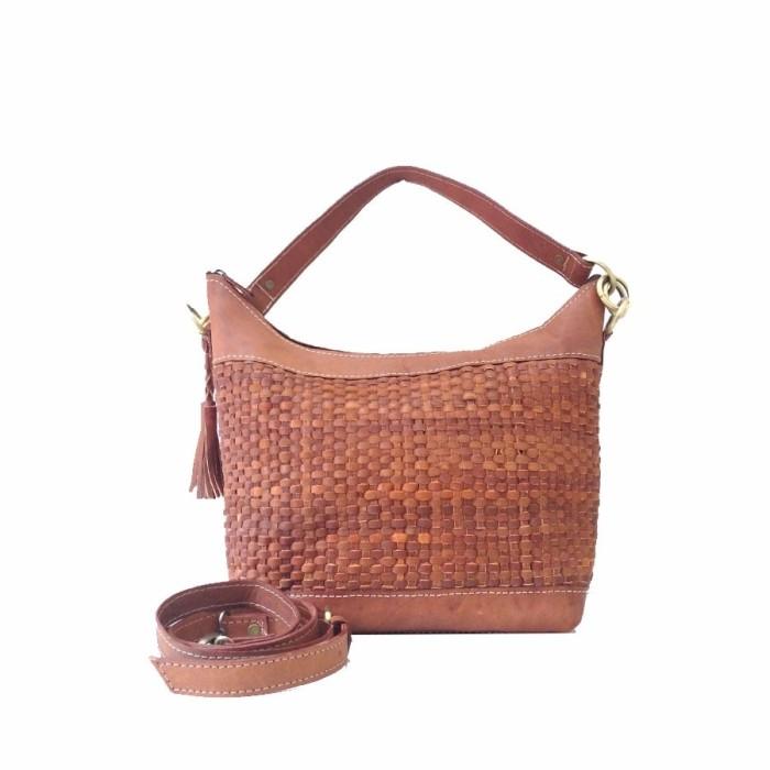 Jual tas kulit wanita warna coklat cek harga di PriceArea.com 61adba13e1