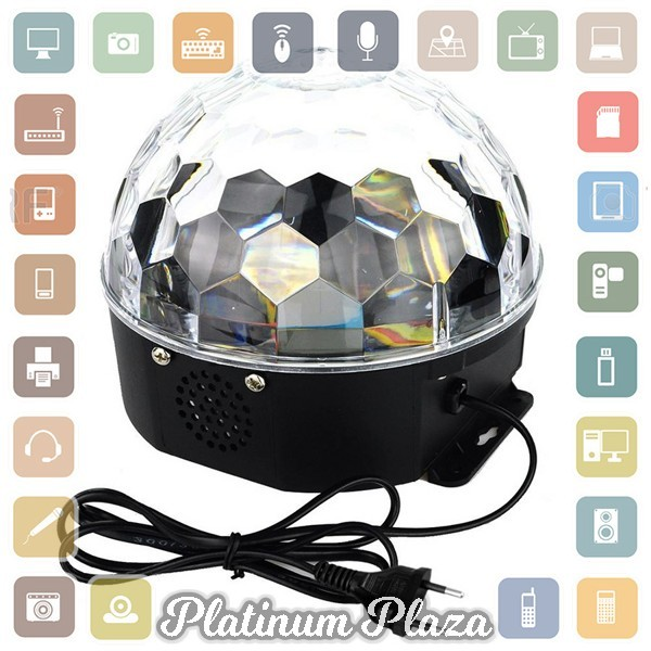 Crystal Magic Ball Disco LED 20W - White`8OYE1B-
