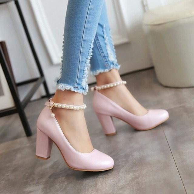 Highheels gelang mutiara/heels laboutin wanita murah gs-ea salem