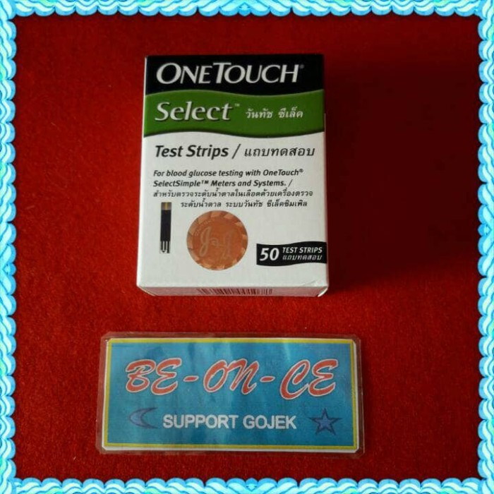 harga 50 Test Strip Onetouch Select Isi 50 Dus Hijau One Touch Silect Tokopedia.com