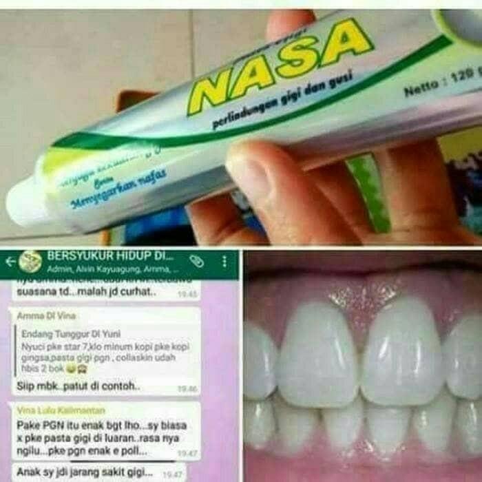 Jual Pasta gigi odol sikat gigi nasa pemutih gigi penghilang kuning ... e45f8175e5