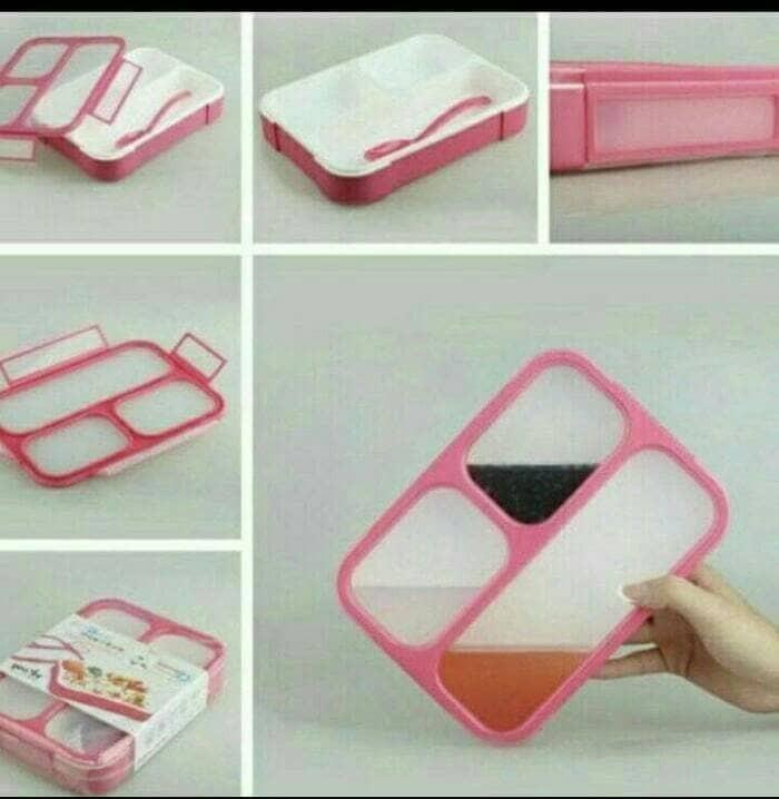 Lunch box kotak makan yooyee 3 sekat bpa free