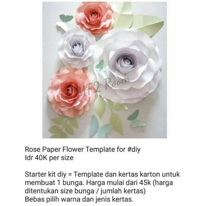 Jual Template Paper Flower Bunga Kertas Model Rose Mawar Royal