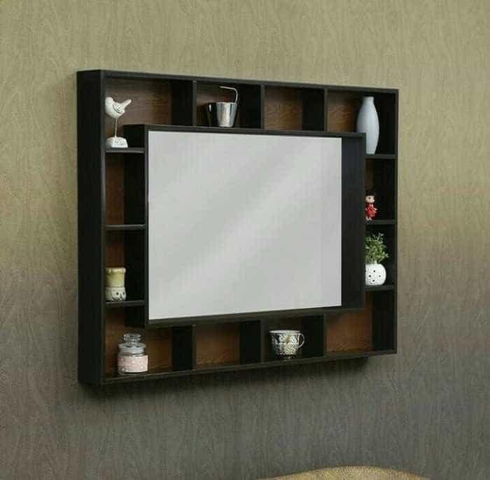 Figura Cermin Hias Minimalis Duco Hiasan Dinding Ruang Tamu