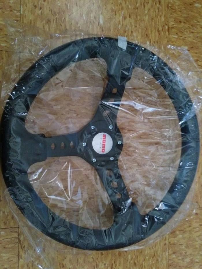 harga Stir / steer racing momo model sparco 14  universal hitam berkualitas Tokopedia.com