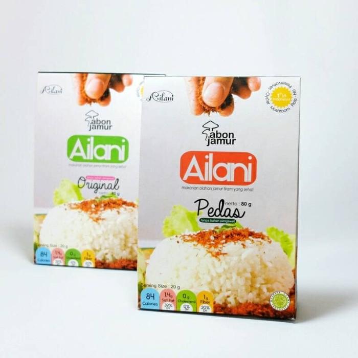 Abon Jamur Ailani Original, Non MSG (eceran/reseller) - Pedas