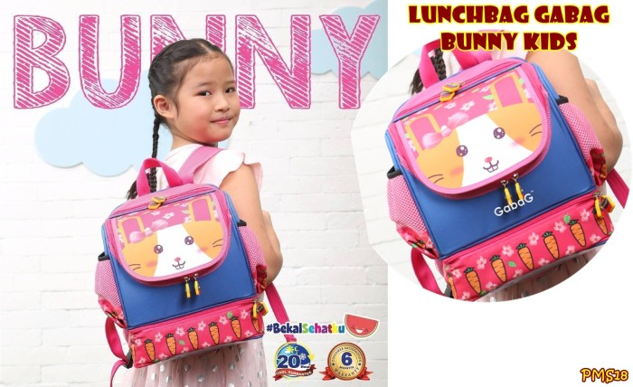 Pms18 lunchbag gabag bunny kids