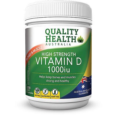harga Quality health australia vitamin d 1000iu - 300caps Tokopedia.com