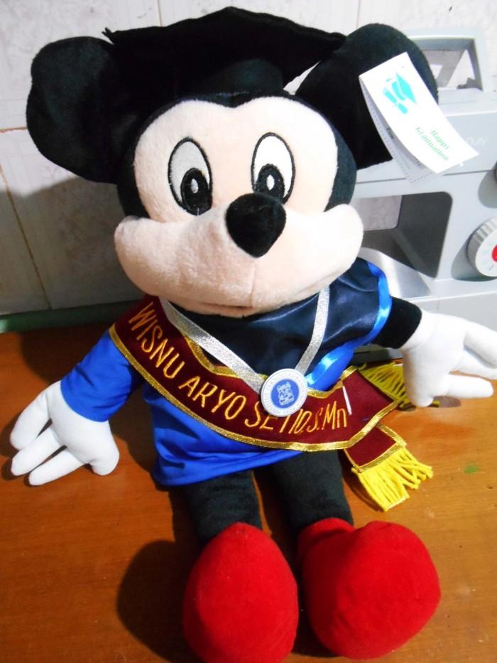 Jual boneka wisuda mickey mini mouse 50 cm plus selempang boneka ... d0752a7a7e
