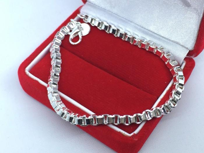 Gelang rantai sterling silver 925 pria lapis perak - bb005 bawah