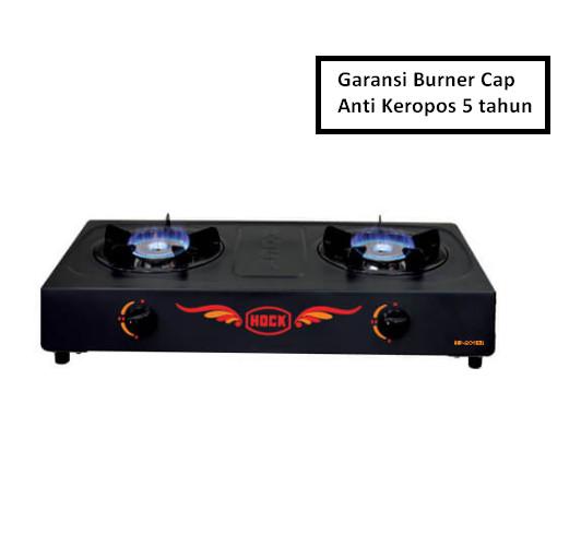 harga Kompor gas 2 tungku hock elegant deluxe (burner stainless) - hp 201ed Tokopedia.com