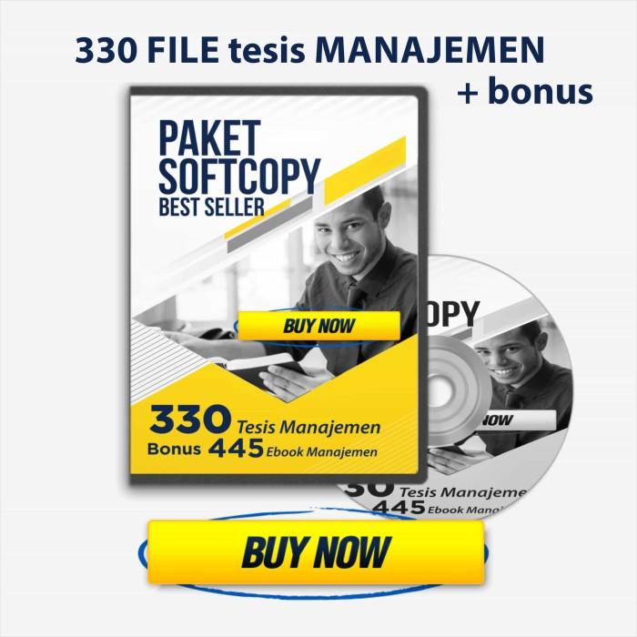 Jual Dvd 330 Contoh Tesis Ekonomi Manajemen Pemasaran Best Seller