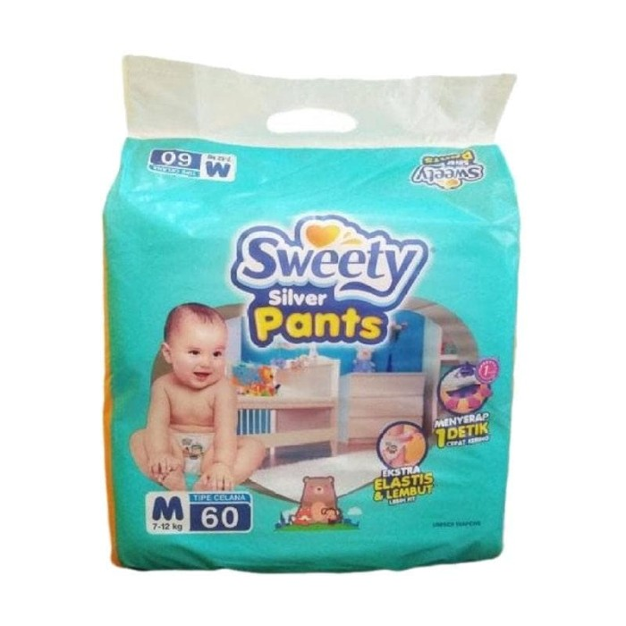 harga Sweety silver pants popok bayi [size m/60 pcs] Tokopedia.com