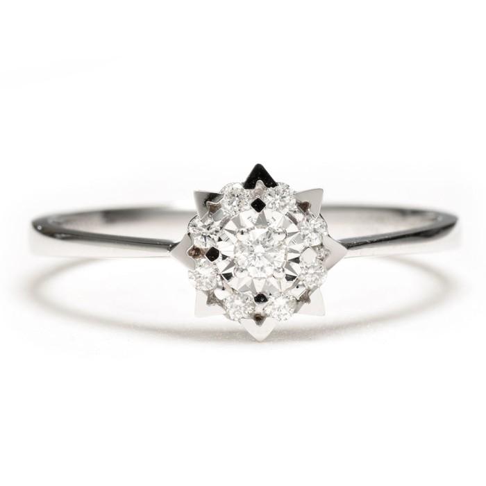 Jual Cincin Tunangan Kawin Pernikahan Berlian Emas Wedding Ring Dahlia Harga Promo Terbaru