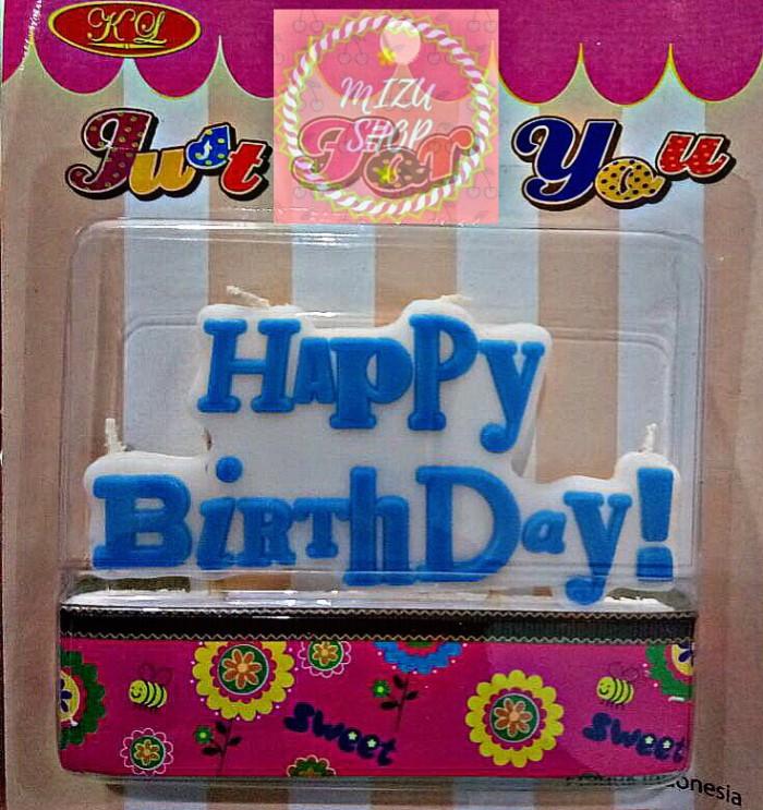 LILIN HAPPY BIRTHDAY/LILIN ULANG TAHUN TULISAN BIRU