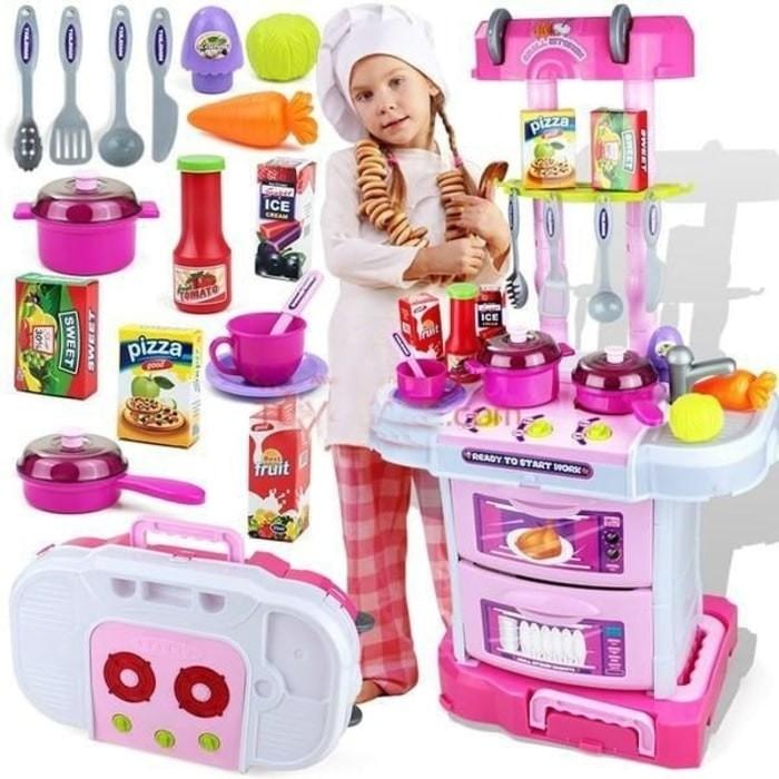 harga Mainan anak w097 koper kitchen set little chef 3 in 1 koper case Tokopedia.com