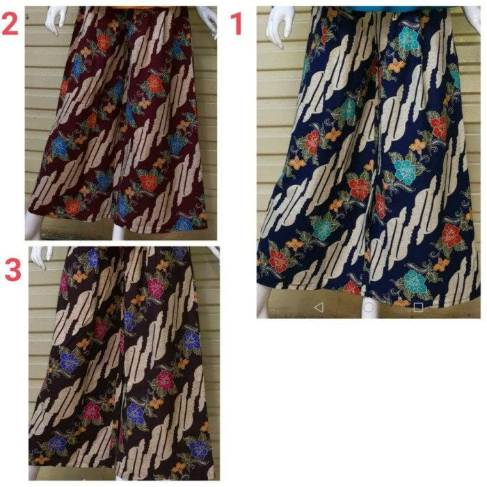 Celana kulot rok panjang batik wanita jumbo long pant Felicia Source · celana kulot celana batik