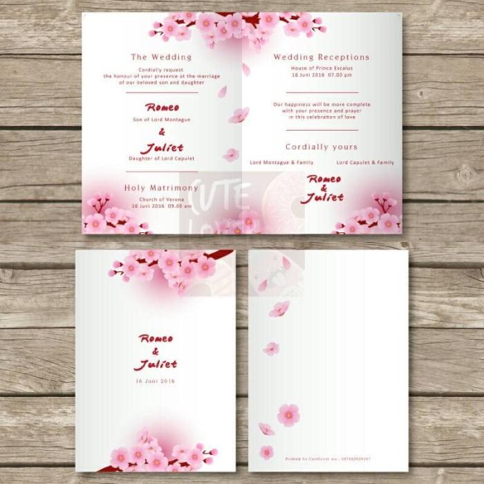 Jual Undangan Pernikahan Kartu Wedding Invitation Card Kode