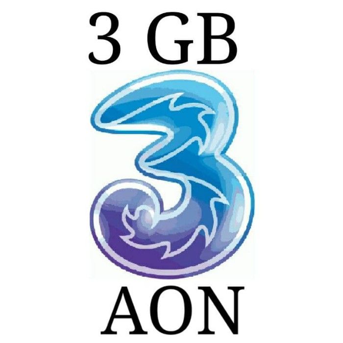 Jual Perdana Paket Kuota Internet 3 Three Aon 3 Gb Murah Kota Jambi Azzahra Jambi Tokopedia