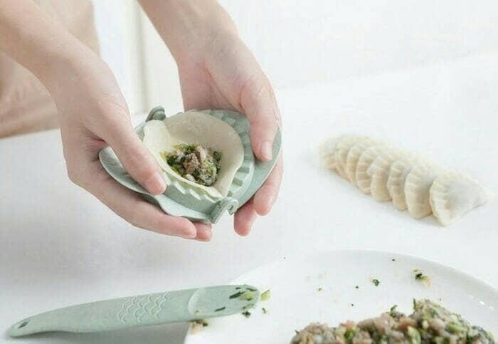 1 set cetakan kue pangsit pastel dimsum + sendok clip - dumpling mold